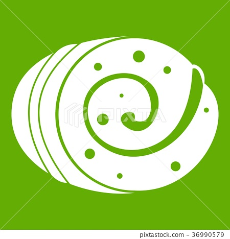 Fruit loaf icon green 36990579
