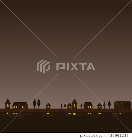 城市景观 夜景 小镇 36991282