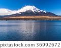 sky, lake, yamanaka 36992672