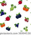 Seamless Pattern of Sweet Fruits 36994536