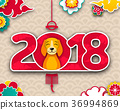 2018 Chinese New Year Banner, Earthen Dog, Eastern 36994869