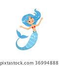 mermaid, underwater, blue 36994888