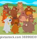 動物 熊 卡通 36996830