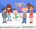 happy cartoon children characters group 36996841