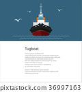 拖船 船 海報 36997163
