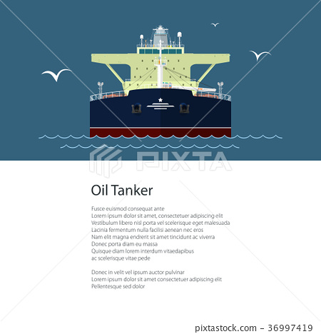 Flyer with Oil Tanker 36997419