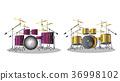 drum kit drum set symbol instruments 36998102
