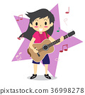 Boy playing guitar Happy Love music 36998278