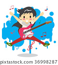 Boy playing guitar Happy Love music 36998287