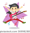Boy playing guitar Happy Love music 36998288