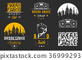 Vector Set of Badges, Logos and Sign Break Dance 36999293