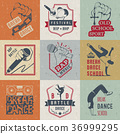 Vector Set of Badges, Logos and Sign Break Dance 36999295