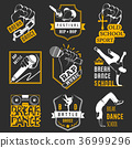Vector Set of Badges, Logos and Sign Break Dance 36999296