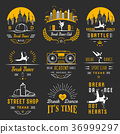 Vector Set of Badges, Logos and Sign Break Dance 36999297