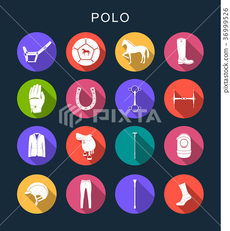 Vector Set Flat Square Icons 36999526