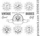 Set of Golf Logo, Labels and Emblems 36999610