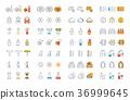 wine, icon, set 36999645