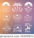 Vector Set of Badges, Logos and Sign Break Dance 36999855