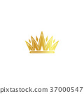 crown isolated golden 37000547