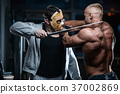 horror brutal Jason mask man strong bodybuilder athletic fitness 37002869