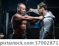 horror brutal Jason mask man strong bodybuilder athletic fitness 37002871