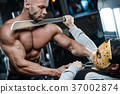 horror brutal Jason mask man strong bodybuilder athletic fitness 37002874