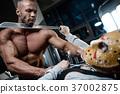 horror brutal Jason mask man strong bodybuilder athletic fitness 37002875