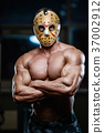 horror brutal Jason mask man strong bodybuilder athletic fitness 37002912