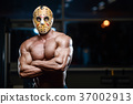 horror brutal Jason mask man strong bodybuilder athletic fitness 37002913