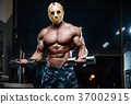 horror brutal Jason mask man strong bodybuilder athletic fitness 37002915