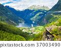 Geiranger at Geirangerfjord, Norway 37003490