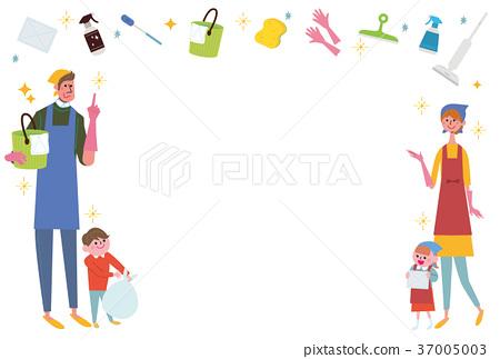 議院清潔清潔例證家庭 37005003