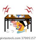 地震,父母和孩子,例证 37005157