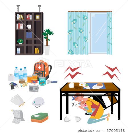 地震防災用品例證 37005158
