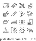 Home renovation icon set. 37008119