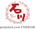 石川刷字符櫻花框架 37008598