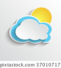 Sun and cloud icon 37010717