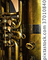 detail of a brass musical instrument 37010840