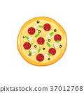 披薩 向量 向量圖 37012768