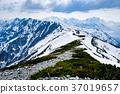 산, 산악, 잔설 37019657