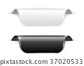 Black and white sticker labels with transparent 37020533