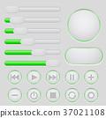 buttons, interface, green 37021108