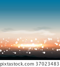 Natural background with sunset in vector 37023483