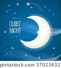 sleep, moon, vector 37023632