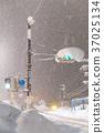 transport, heavy snow, traffic light 37025134