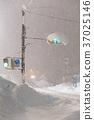 transport, heavy snow, traffic light 37025146