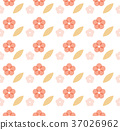 Cherry blossom pattern seamless vector. Pink  37026962