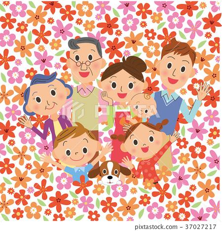 在花田的三代家庭 37027217