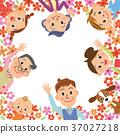 三代家庭和花框架 37027218