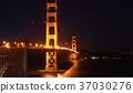 nightscape of Golden Gagte Bridge 37030276